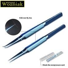 Wozniak профессиональный ремонт Fly line Пинцет для предотвращения оставления отпечатков пальцев плоскогубцы Перемычка линия 0,02 мм для материнская плата для iphone медная проволока