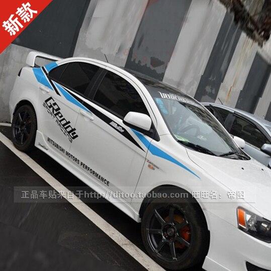 Popular Mitsubishi Racing StickersBuy Cheap Mitsubishi Racing - Racing car decals design