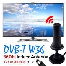 YCDC vente noir 36dbi antenne tv intérieure numérique tv antena booster DVDB-TV Mâle antennes par sinal celular Livraison Gratuite EL5935