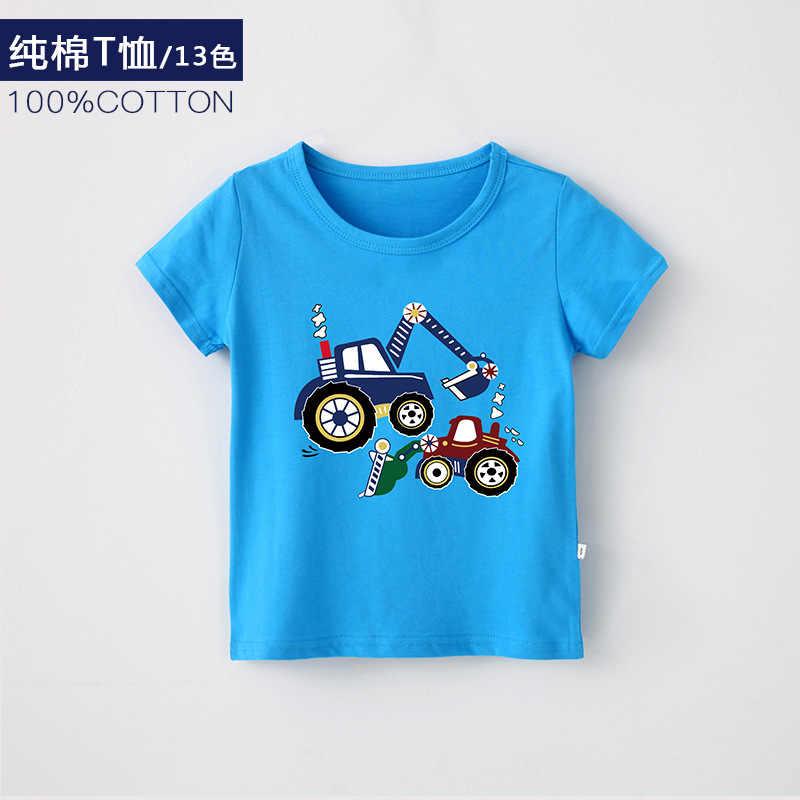 1-12 jaar Baby Jongen T-shirt Nieuwe Zomer Katoen Cartoon Auto Tops Fashion Korte mouwen kinderen T shirt Kinderen Jongens Kleding