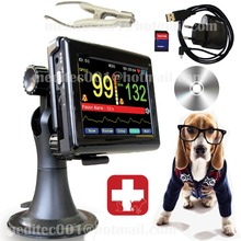Vet pulse oximeter,patient monitor PM60A+vet probe,spo2 probe,veterinary,animalNewest  With Touch screen