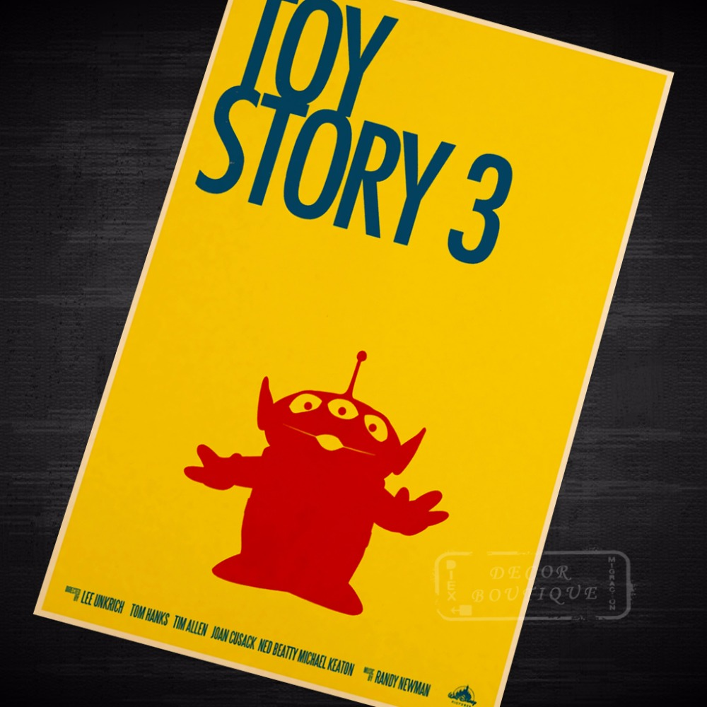 Toy Story 3 Minimalism Minimal Movie Film Vintage Retro Poster ...