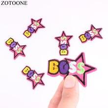 43d8137e29851 Zotoone 10 шт. дешевые звезды Нашивки для одежды вышитые железа на письмо  патч DIY аксессуары Аппликация одежда Нашивки для дете.