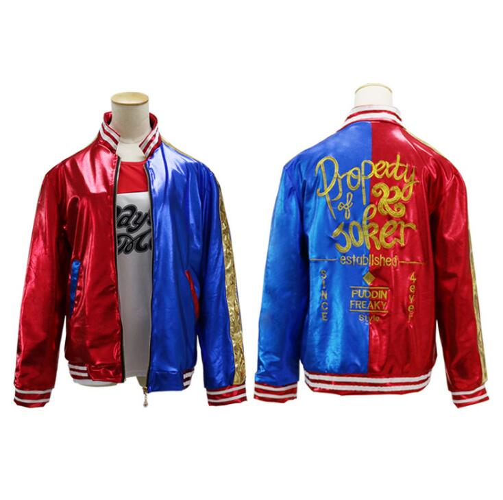 US $20.6 10% OFF|Deluxe Harley Quinn Jacket Property of Joker Embroidery  Jacket Suicide Squad Harley Quinn Cosplay Adult Plus Size Jacket Coat on ...