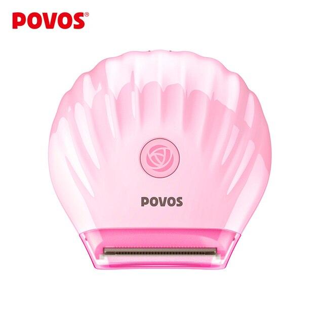 POVOS, для бритья зоны бикини, водонепроницаемые мини электробритвы, летний розовый эпилятор для бритья, USB плюс, PS1016