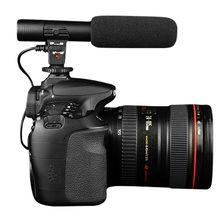 Новое прибытие черный профессиональная студия цифровой видео записи стерео 3.5 мм микрофоны для камеры для canon для nikon горячие продаж