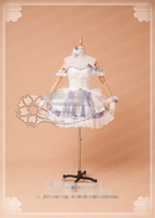 Anime Game THE IDOLM STER Cosplay Costume School Ido White Dance Dress Woman Custom Made Clothing