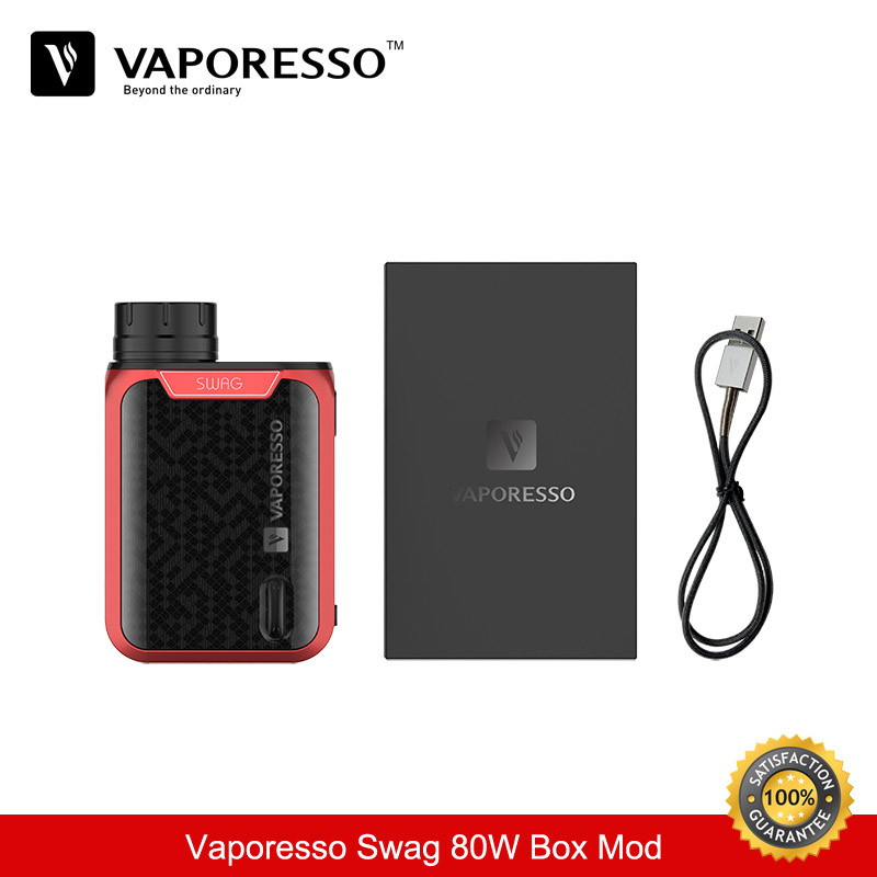 Cigarette Electronique Vaporesso SWAG 80W Box Mod Electronic Cigarette TC Mod 18650 Vape Mods Vaporizer Vape suit for TFV8 Baby vivakita original child lock design cigarette electronique fusion 50w vw mod electronic cigarette in kuwait