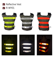 High Visibility Night Work Security Traffic or Cycling Safety Reflective Vest free shipping