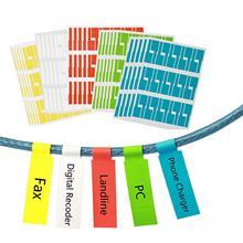 Металическая 750 шт. самоклеящаяся кабельная этикетка, водонепроницаемая проволочная этикетка, устойчивая к разрыву, маркер, тег для кабеля, наклейки, идентификация шнура