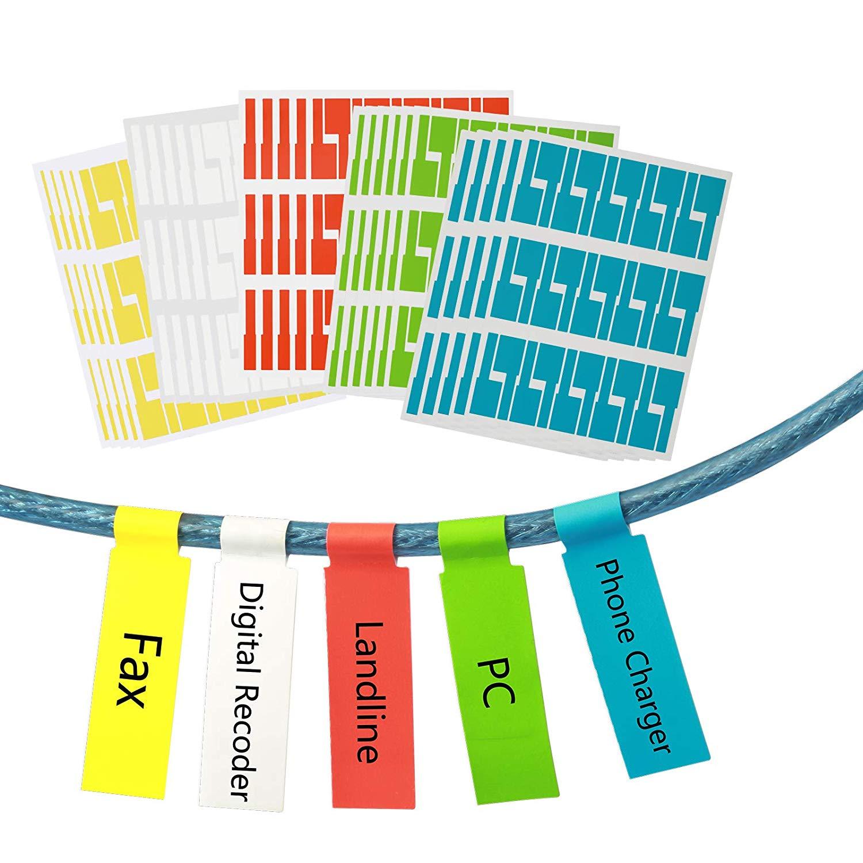 100Pcs Nylon Self-Locking Label Tie Network Cable Marker Cord Wire Strap Zip KH