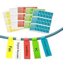 Самоклеящаяся этикетка для кабеля metable 750 шт водонепроницаемая