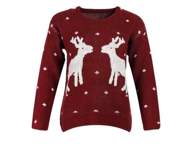 23c3a25f5cc9 2017 Autumn and Winter New European Christmas Reindeer Sweaters ...