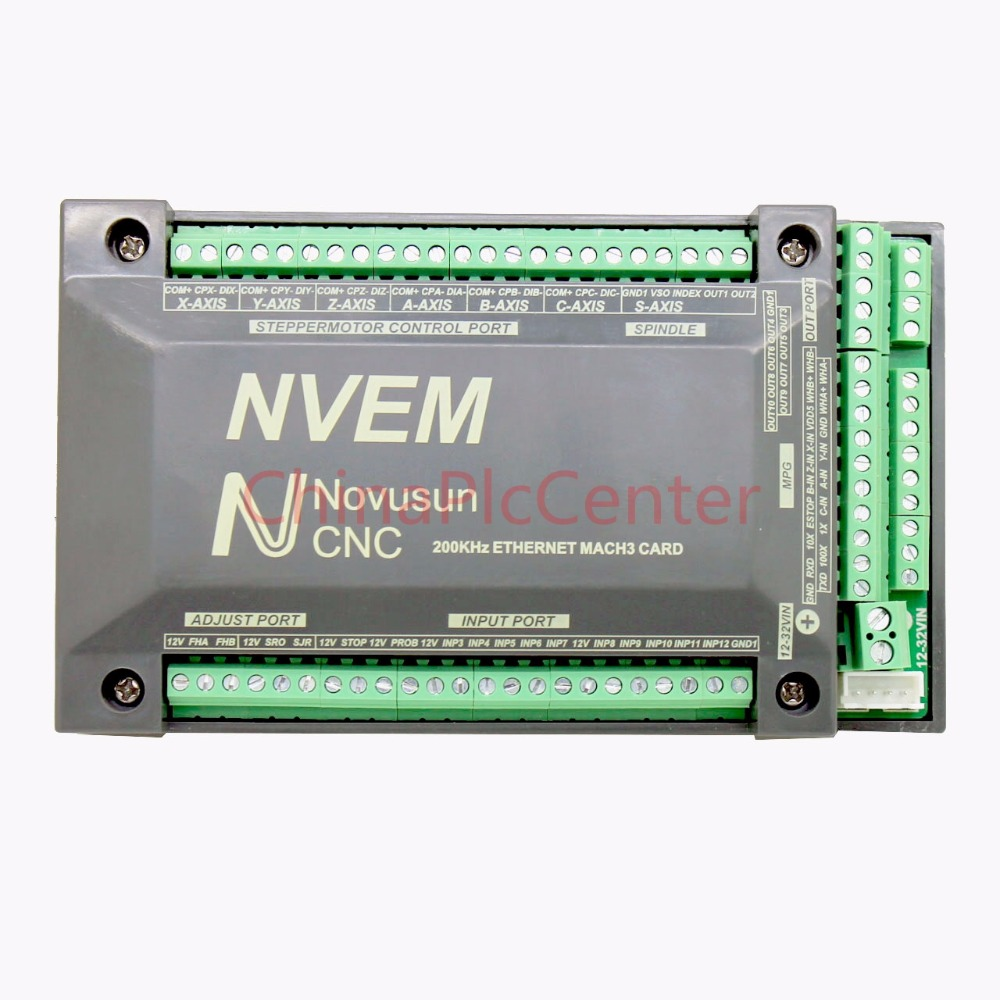 NVUM NVEM CNC Controller 3/4/5/6 Axis MACH3 Ethernet Interface Board Card 200KHz For Stepper Motor цена 2017