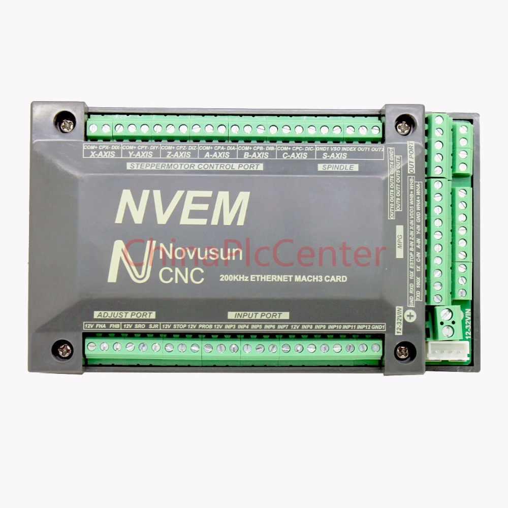 NVUM NVEM CNC Controller 3/4/5/6 Axis MACH3 Ethernet Interface Board Card 200KHz For Stepper Motor