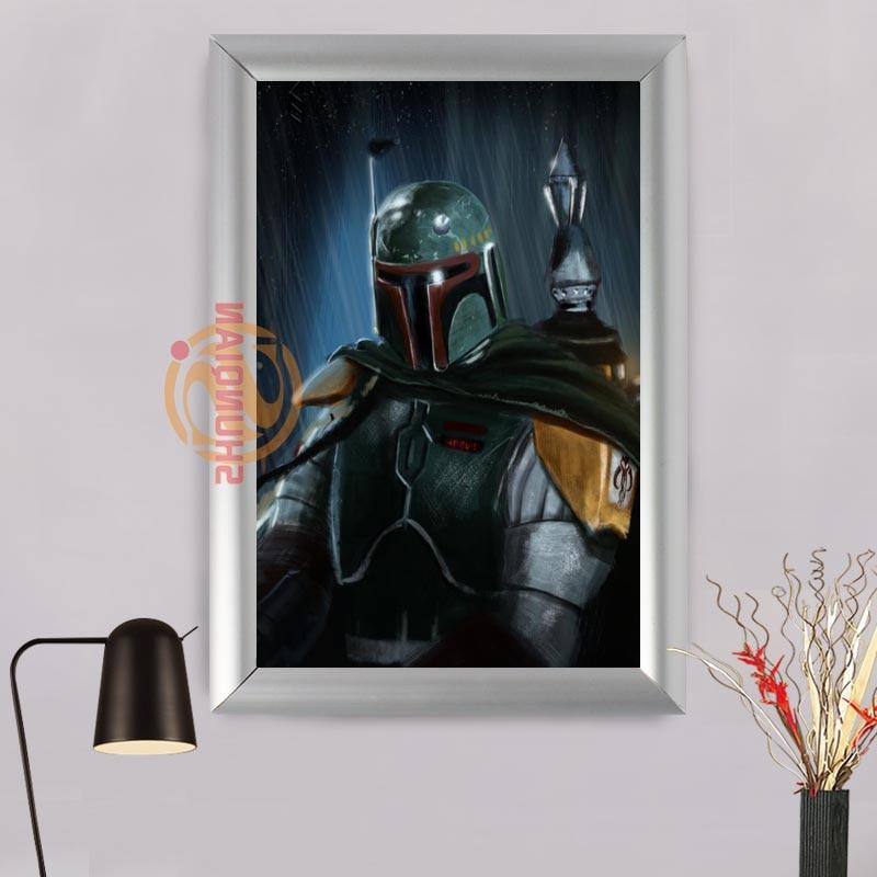Star Wars boba fett aluminiumlegierung Gerahmte Gedruckt Malerei auf ...