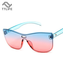 TTLIFE Version Of Street Fashion Sunglasses Women Candy Color Face-Lift Sun Glasses Beauty Vintage Female Eyeglasses YJHH0143