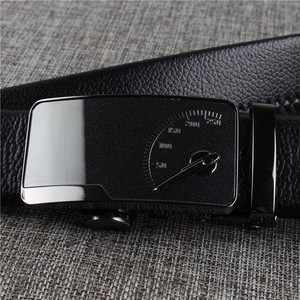 Image 4 - [DWTS] Mens leather belt buckle personality automatic belts leisure fashion pure bovine leather pants waistband free shipping