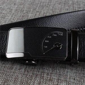 Image 4 - [DWTS] männer leder gürtel schnalle persönlichkeit automatische gürtel freizeit mode reine rinder leder hosen bund kostenloser versand