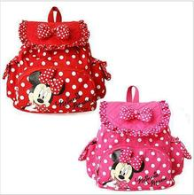 Free shipping  HOT Small Minnie Mouse Little Baby Children Girls Backpacks Cartoon School Bag for