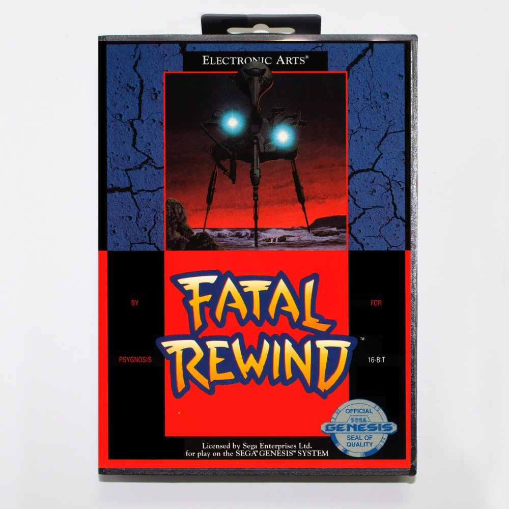 Fatal Rewind Game Cartridge 16 bit MD Game Card With Retail Box For Sega Mega Drive For Genesis