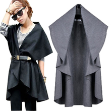 New Women Vest Coat Colete Feminino Plus Size Loose Irregular Casual Female Coats Jackets Vest Coats