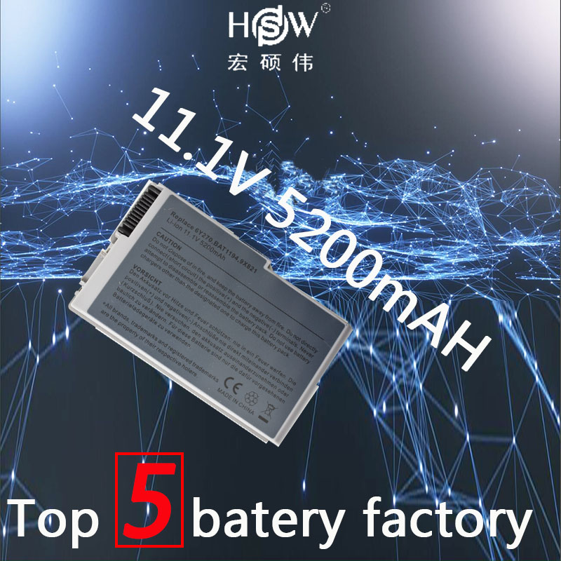HSW 5200 mah 6 zellen laptop akku für DELL Inspiron 500 mt 510 mt 600 mt Latitude 500 mt 600 mt D500 D505 D510 D510 D520 D530 D600 D610