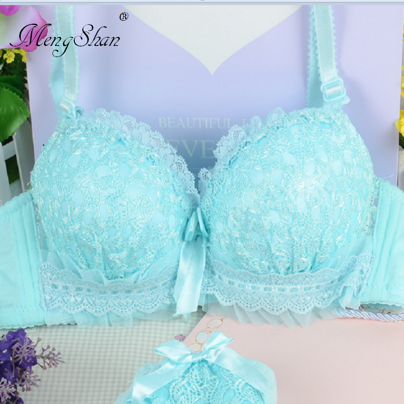 Buy MengShan Sweet maiden cotton bras Thin sexy lingerie Young girl's underwear lace Jacquard characteristics 70A70B75B75A80A80B85B