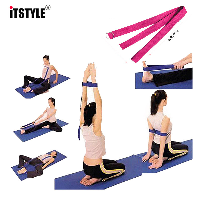 Multicolor Yoga Stretch Belt Yoga Gym Aerial Yoga Hammock Inverted Home Stretch Belt Sling Elastic Widened Yoga Hammock In Pain Sports & Entertainment
