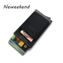 Card Holder ID RFID Blocking Metal Women Men Wallet Credit Card Boxs Pop up Aluminum Back Pocket Coin Purse Mini Slim Automatic(China)
