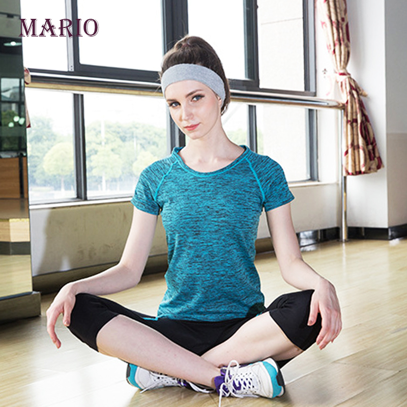 Dry Quick Gym T Shirt Compression Tights Women S Sport T Shirts Running Short Sleeve T