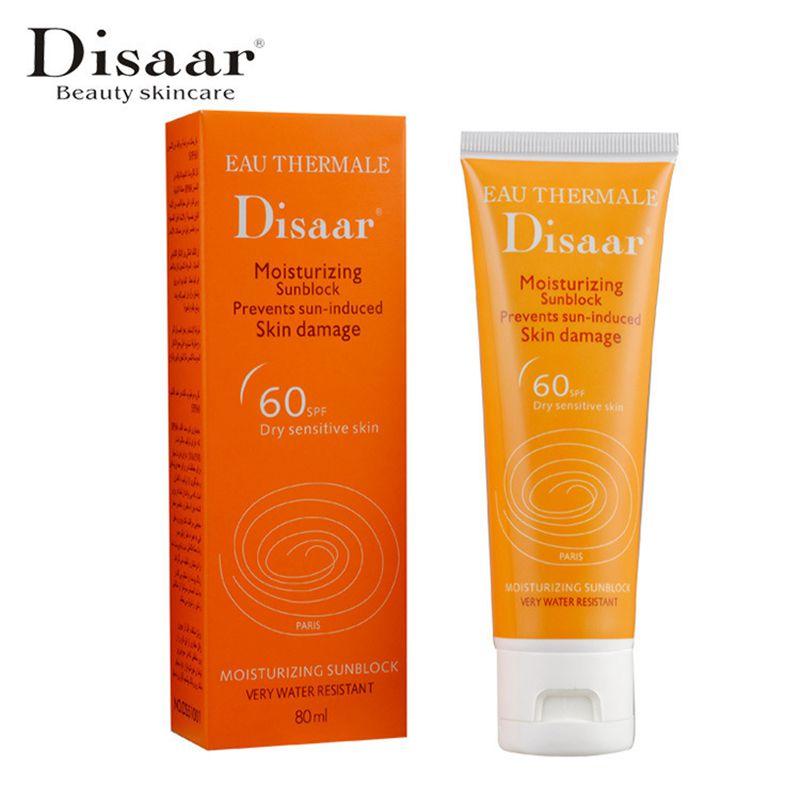 Disaar Moisturizing Sunblock SPF 60++ Waterproof Sunscreen Creams Prevents Sun-induced Skin Damage