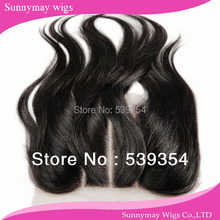 3 way part lace closure Brazilian virgin hair swiss lace closure bleached knots three part 4 x 4 in stock