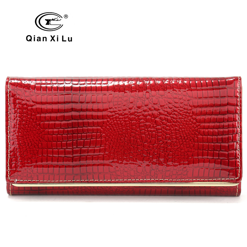 New Wedding Wallets Brand Design High Quality Leather Long Wallet Female Hasp Fashion Alligator Women Wallet And Purses high quality women wallet brand design genuine sheepskin leather wallet female hasp fashion long women wallets and purses x37