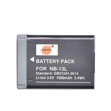 DSTE NB-13L перезаряжаемые батарея для Canon G7X G9X G5X G7X Mark II G9X Mark II SX620HS SX720HS SX730HS камера