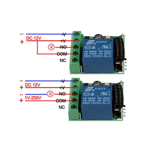 Image 4 - QIACHIP 433MHz DC 12V 1CH RF ממסר מודול האלחוטי אוניברסלי מתג בית חכם בקר מקלט עבור שער דלת