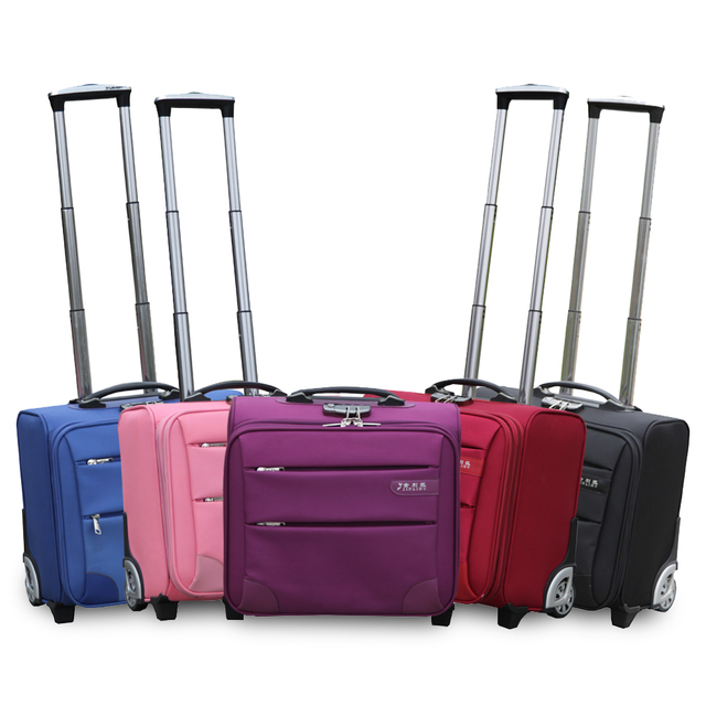 18748e0ee Pequeño mini carrito de viaje equipaje cajas de arrastre comercial 16  pulgadas equipaje, negro/