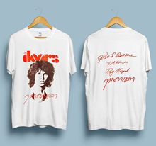 New reprint Vintage 1980 s Jim Morrison THE DOORS Gray S-3XL  New Men Cotton T-Shirt Men Summer Short Sleeves T Shirt stooble men s new zealand rugby haka t shirt