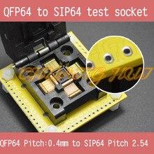 IC TEST QFP64 to SIP64 socket FPQ64 LQFP64 TQFP64 0.4mm to SIP64 2.54mm IC test socket IC51-0644-1972 socket to iraq were ic 200