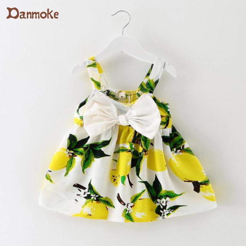 Otroška obleka za dojenčke Obleka za dojenčke Obleke z limoninim tiskom Obleke za dekleta Obleka za rojstni dan Princess