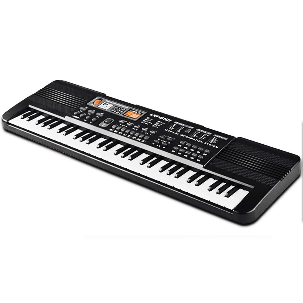 POUR ENFANTS letric Piano Multi-fonction Instrumentation Musicale 61 Touches Musique Électronique Clavier Enfants Cadeau Avec Microphone KB06