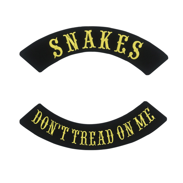 US $4 9 |snake don't tread on me ROCKER Embroidered punk biker Patches  Clothes Stickers Apparel Accessories Badge-in Patches from Home & Garden on