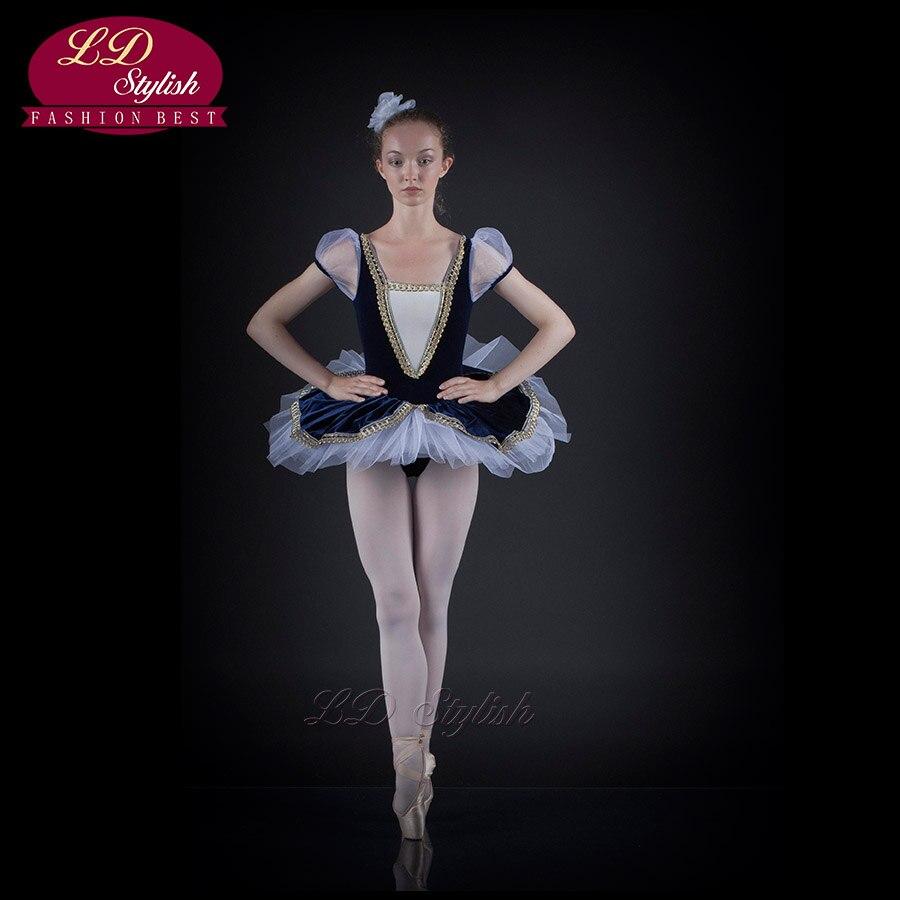 Modern Professional Ballet Vest Adult Clothes Jumpsuit Performance Stage Solo LDStylish Bluebird New Children Tutu