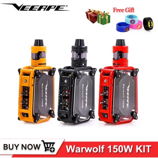 Original Veeape warwolf kit 150w e-cigarette Laser vape box mod Instant 0.025 second large output built-in 3500mAh battery vape
