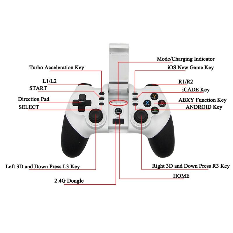 2 4G Wireless Bluetooth Gamepad Controller Joystick For PS3