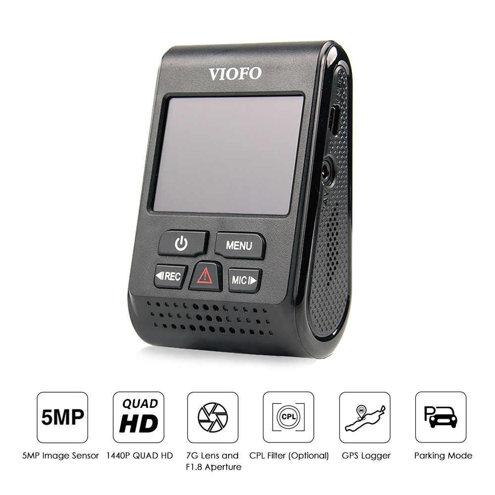 """VIOFO A119 Pro Автомобильный видеорегистратор dashcam DVR 2,0 """"lcd супер конденсатор HD 2K 1440P Novatek опционально gps CPL SD карта"""