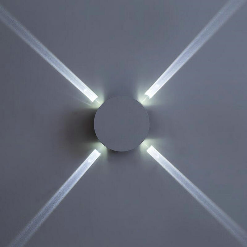 ФОТО Aluminum Modern Wall Sconce Square Round Designed 4w LED wall light decoration Home lighting AC85-265V Wall mounted