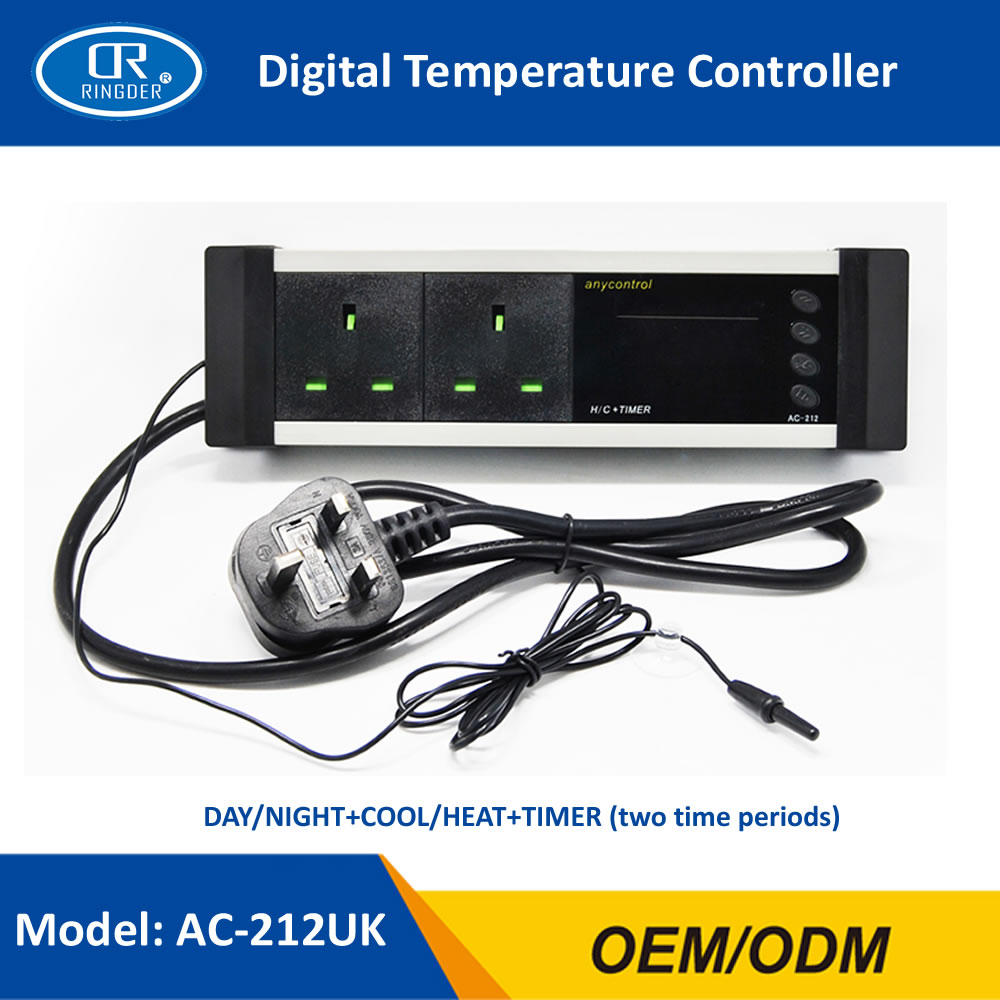 ringder ac 212 0 50c day night on off digital reptile thermostat rh aliexpress com Most Accurate Thermostat Hydrofarm Thermostat for Reptiles