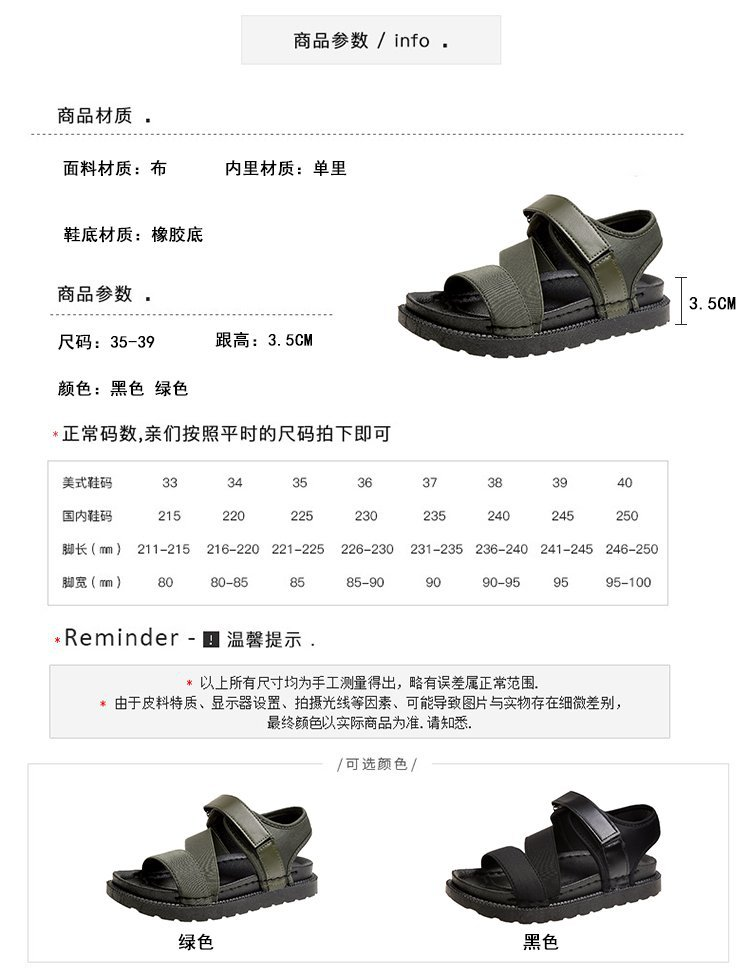 Summer Sandalias Mujer 2019 Shoes Woman Classics Gladiator Hook Loop Sandals Women Shoes Casual Flat Platform Block Heel Shoes 10