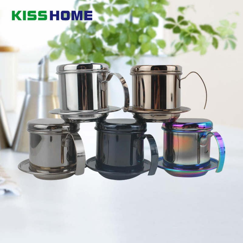 Multi-color Portable Stainless Steel <font><b>Vietnam</b></font> <font><b>Coffee</b></font> Dripper Filter <font><b>Coffee</b></font> <font><b>Maker</b></font> High Quality Drip <font><b>Coffee</b></font> Filter Pot Filters Tool image